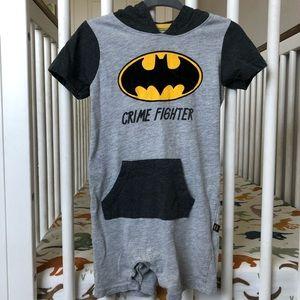 *3 FOR $15* BATMAN romper onesie w/ hood - boys18M